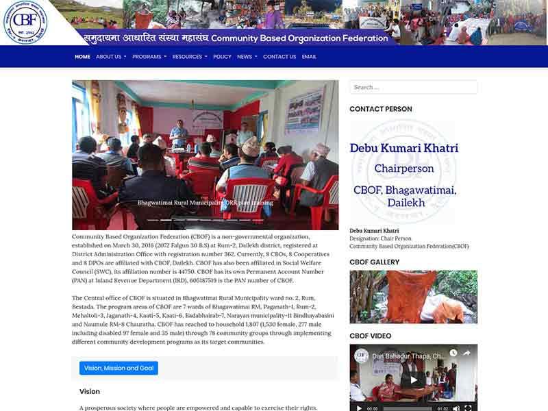 Website of CBOF