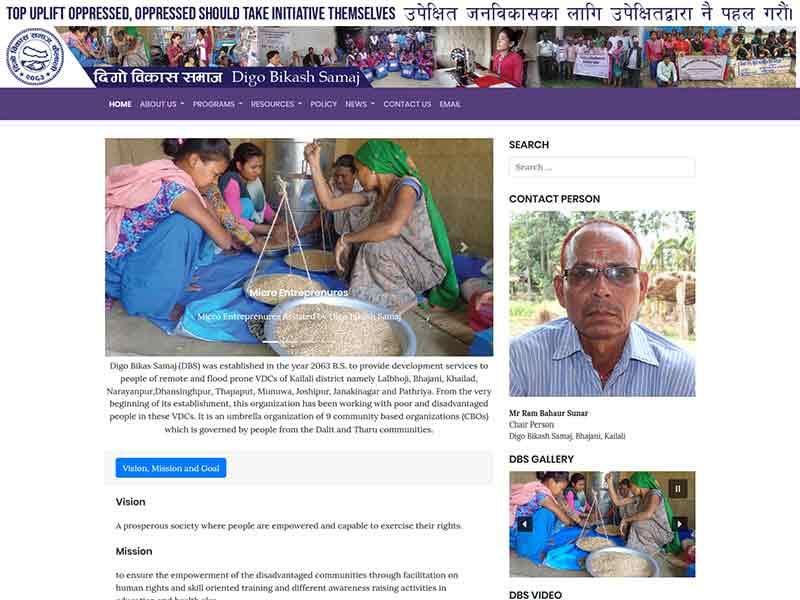 Website of Digo Bikash Samaj