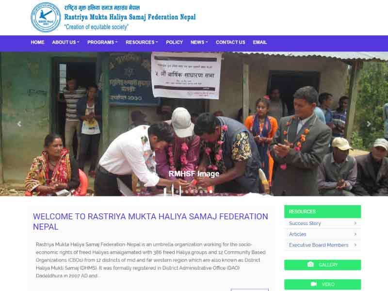 Website of Rastriya Mukta Haliya Samaj Federation Nepal